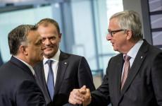 Orbán határt véd, Juncker nyalókát osztogat