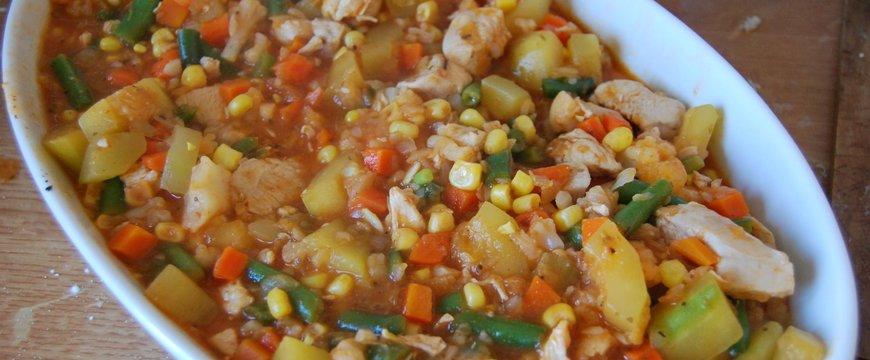 """""""Főzz az egészségedért"""" 6. recept - Zöldséges csirke"""