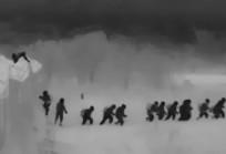 Így ostromolják kövekkel, husángokkal a migránsok a déli határzárat